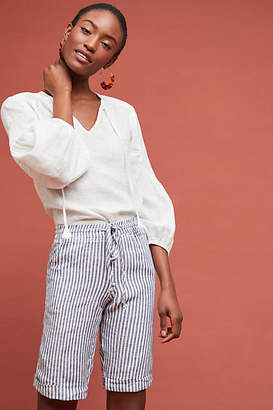 Allen Allen Striped Linen Bermuda Shorts