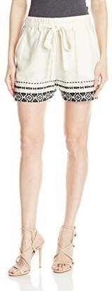 Lucky Brand Women's Loose Embroidered Short