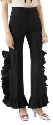 Gucci Mohair Ruffle Pants