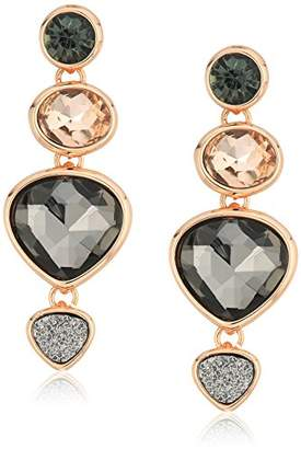 Kenneth Cole New York Supercharged Collection Women's Rose Gold Multi-Stone Drop Earrings