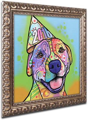 """Roxy Trademark Global Dean Russo 'Calendar Roxy' Ornate Framed Art, 11"""" x 11"""""""