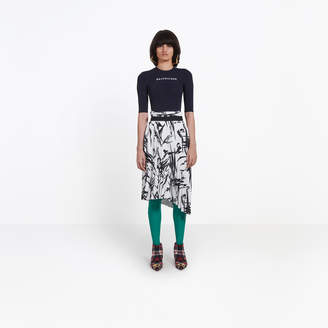 Balenciaga Asymmetrical draped pleated skirt