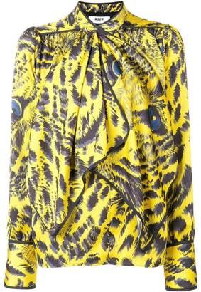 MSGM jaguar printed blouse