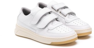 Acne Studios Kids touch strap tennis sneakers