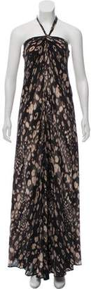 L'Agence Silk Halter Dress
