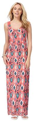 Mantaray Red Diamond Pattern Maxi Dress