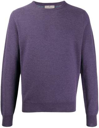 Canali long-sleeve fitted sweater