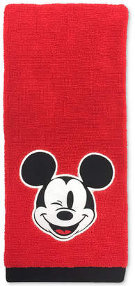 "Disney (ディズニー) - Disney Jay Franco Big Face Mickey Mouse 16"" x 26"" Hand Towel Bedding"