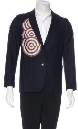 Dries Van Noten Wool Patterned Blazer