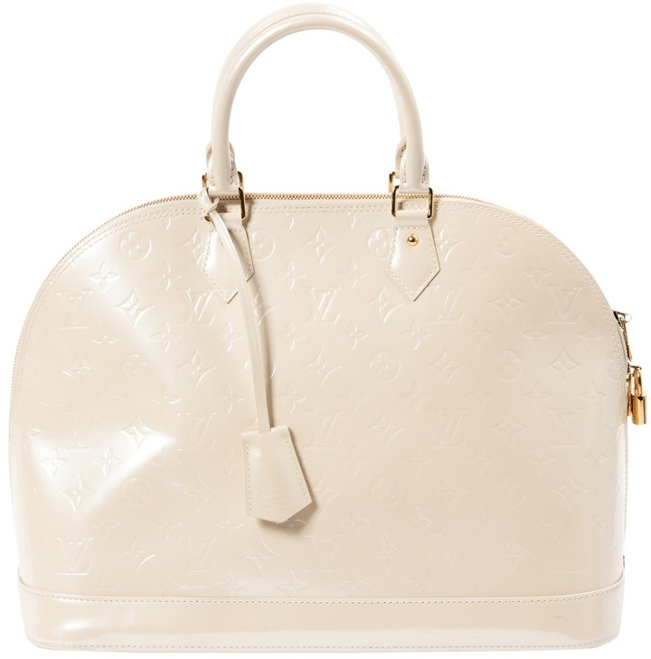Louis Vuitton Alma patent leather bag