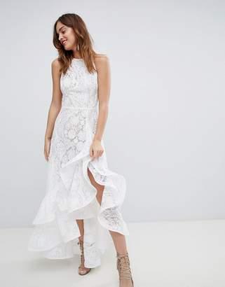 Bronx And Banco & Banco Lace Ruffle Wrap Dress