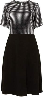 ae80993cad5 Dorothy Perkins Womens   Dp Curve Black Square Print Jacquard Skater Dress