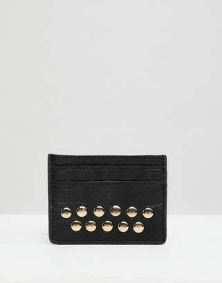 Urban Code Urbancode leather card holder with studs