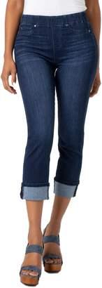 Liverpool Chloe Pull-On Roll Cuff Capri Jeans