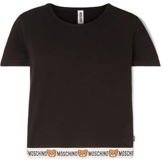 Moschino Cropped Stretch-cotton Jersey T-shirt