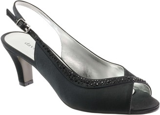 David Tate Satin Evening Pumps - Dainty
