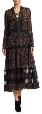 Zimmermann Radiate Tie-Up Midi Dress