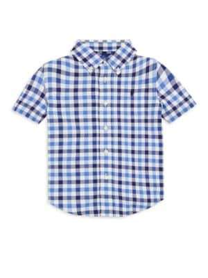 Ralph Lauren Boy's Plaid Stretch Collared Shirt