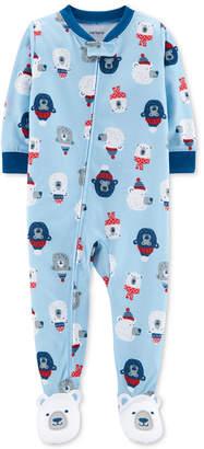 Carter's Baby Boys 1-Pc. Polar Bear-Print Footed Pajamas