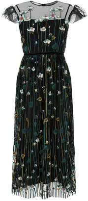 RED Valentino Floral Embroidered Mesh Gown