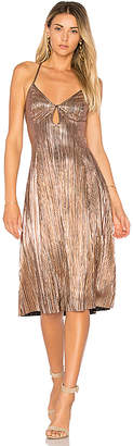 House of Harlow 1960 x REVOLVE Heidi Dress in Metallic Gold $178 thestylecure.com