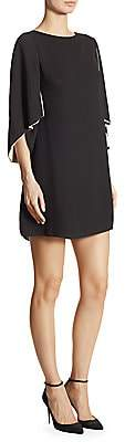 Halston Women's Cape Sleeve Shift Dress