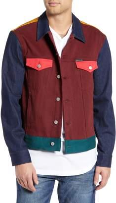 Calvin Klein Jeans Patch Colorblock Jacket