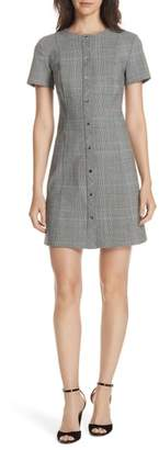 Theory Snap Front Plaid Dress