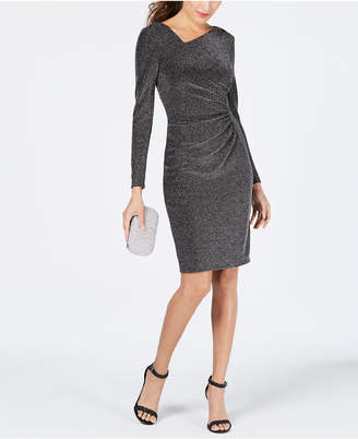Vince Camuto Metallic Ruched Bodycon Dress