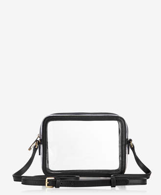 GiGi New York Collins Crossbody, Clear Bag with Black Vachetta Trim