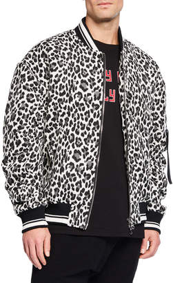 Mostly Heard Rarely Seen Men's Champion MA1 Animal-Print Jacket