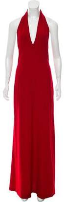 Yigal Azrouel Halter Maxi Dress
