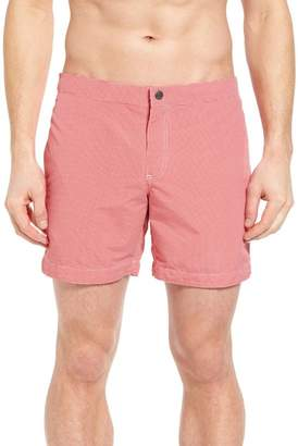 Trunks Boto Aruba Micro Check Tailored Fit 6.5 Inch Swim