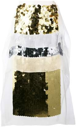 Christopher Kane sequin panel midi skirt