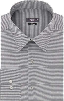 Van Heusen Long Sleeve Twill Stripe Dress Shirt - Slim
