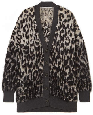 Stella McCartney Brushed Jacquard Cardigan - Gray