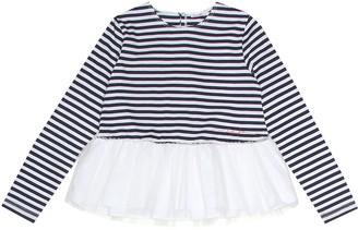 Il Gufo Embellished striped cotton shirt