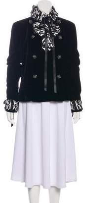 Chanel Velvet Bow-Appliqué Jacket w/ Tags