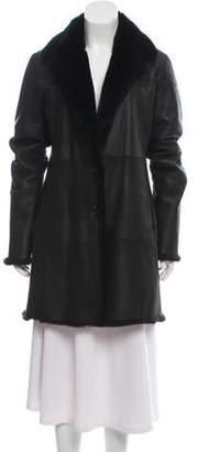 Trilogy Fur-Trimmed Leather Coat