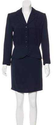 Christian Dior Ruched Skirt Suit