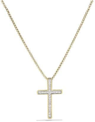 David yurman gold cross necklace shopstyle free shipping 150 at bloomingdales david yurman petite pav cross necklace with diamonds in gold aloadofball Images
