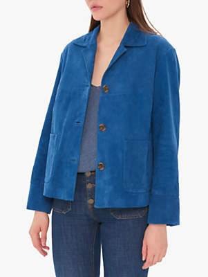 Gerard Darel Oriane Suede Jacket, Blue