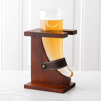 Cathy's Concepts CATHYS CONCEPTS Personalized 16-Oz. Glass Viking Beer Horn With Rustic Stand
