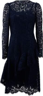 Dolce & Gabbana Ruffle Front Lace Dress
