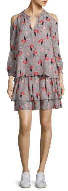Derek Lam 10 Crosby Two-Piece Cold-Shoulder Smocked Silk Top and Dress