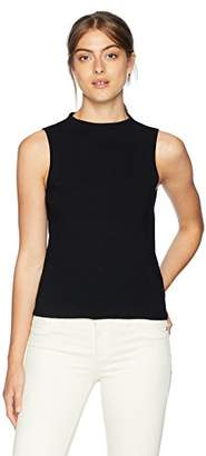 Milly Women's Sleeveless Knit Funnel Neck Tank