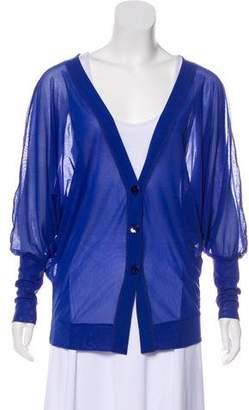Fuzzi Long Sleeve Asymmetrical Cardigan w/ Tags