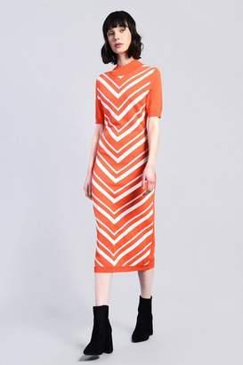 Glamorous Womens **Chevron Midi Shift Dress