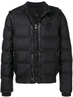 Frankie Morello studded padded jacket
