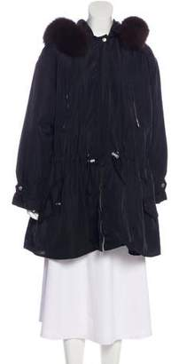 DKNY Fur-Trimmed Insulated Coat